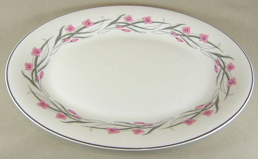 Make sure your browser can show photos and reload this page to see Haviland China Serenade Platter, medium 14