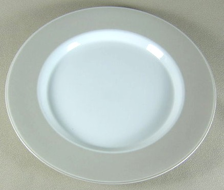 Make sure your browser can show photos and reload this page to see Dansk China Adagio - Taupe Salad plate 8 7/8