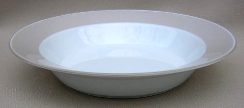 Make sure your browser can show photos and reload this page to see Dansk China Adagio - Taupe Soup bowl, rim shape 8 3/4