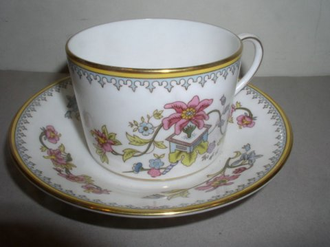 Make sure your browser can show photos and reload this page to see Coalport China Persian Flower  Cup and saucer set --2 1/8