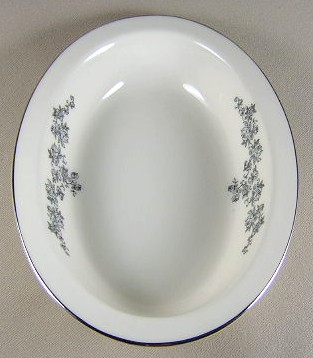 Make sure your browser can show photos and reload this page to see Lenox China Promise Oval vegetable 8 3/8