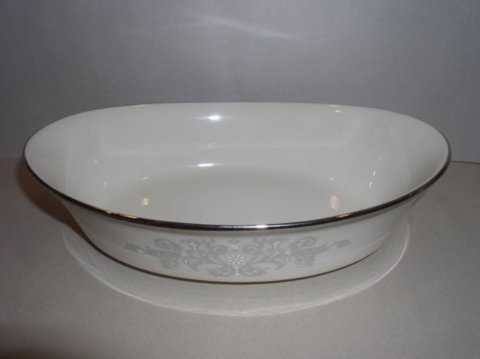 Make sure your browser can show photos and reload this page to see Lenox China Snow Lily  Oval vegetable --10