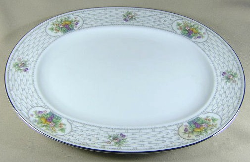 Make sure your browser can show photos and reload this page to see Noritake China Kenmare 2773 Platter, large 15 1/8