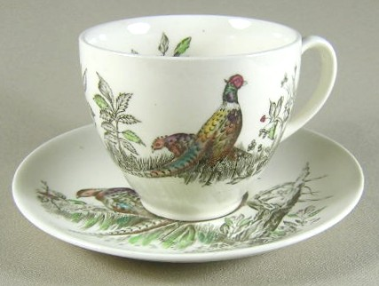 Make sure your browser can show photos and reload this page to see Johnson Brothers Dinnerware  Game Birds Cup and saucer set cream 2 7/8