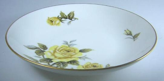 Make sure your browser can show photos and reload this page to see Harmony House China Yellow Rose  Soup bowl  7 3/4