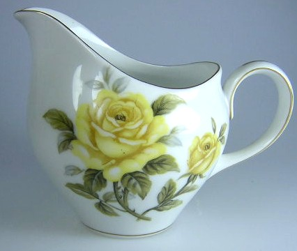 Make sure your browser can show photos and reload this page to see Harmony House China Yellow Rose  Creamer  4 1/8