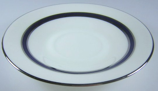 Make sure your browser can show photos and reload this page to see Oxford (Div Of Lenox) China Marquesa Saucer only 5 3/4