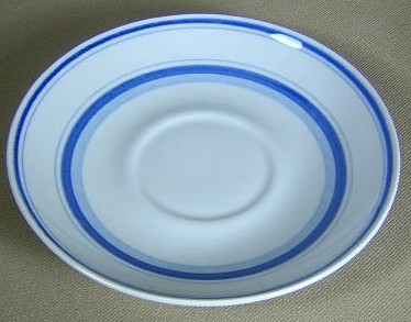Make sure your browser can show photos and reload this page to see Arabia Of Finland China Blue Rose Saucer only  5 5/8