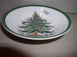 Make sure your browser can show photos and reload this page to see Spode China Christmas Tree S3324 Fruit/dessert bowl --5 1/8