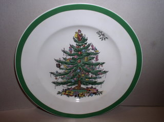 Make sure your browser can show photos and reload this page to see Spode China Christmas Tree S3324 Salad plate --7 3/4