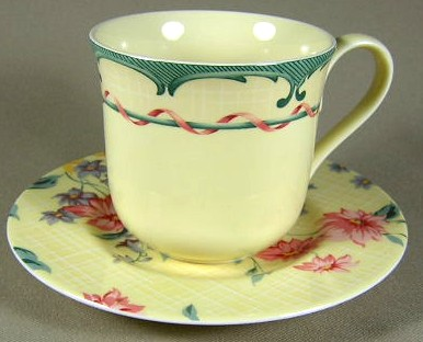 Make sure your browser can show photos and reload this page to see Lenox China Perennial Gardens Cup and saucer set 3 1/4