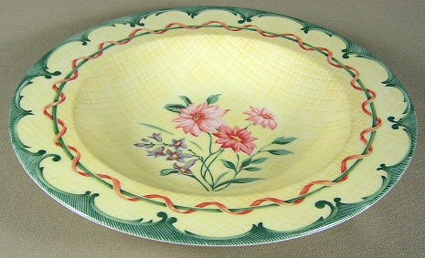 Make sure your browser can show photos and reload this page to see Lenox China Perennial Gardens Soup bowl, rim shape 9
