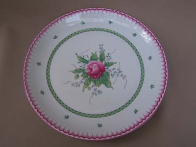 Make sure your browser can show photos and reload this page to see Block China Lyric Rose Dinner plate 10 1/2