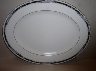 Make sure your browser can show photos and reload this page to see Lenox China City Chic  Platter, medium --13 1/4