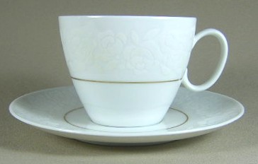 Make sure your browser can show photos and reload this page to see Rosenthal - Continental China Alencon 9241 Cup and saucer set 3 3/8