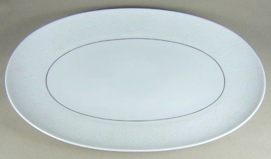 Make sure your browser can show photos and reload this page to see Rosenthal - Continental China Alencon 9241 Platter, large 15 1/8
