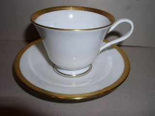 Make sure your browser can show photos and reload this page to see Oxford (Div Of Lenox) China Bennington Cup and saucer set