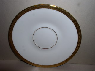 Make sure your browser can show photos and reload this page to see Oxford (Div Of Lenox) China Bennington Saucer only