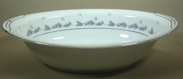 Make sure your browser can show photos and reload this page to see Noritake China Camille 6016 Oval vegetable 10 1/2