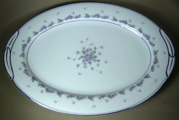 Make sure your browser can show photos and reload this page to see Noritake China Camille 6016 Platter, medium 13 3/4