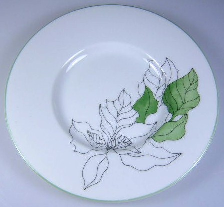Make sure your browser can show photos and reload this page to see Block China Poinsettia Saucer only