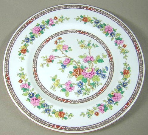 Make sure your browser can show photos and reload this page to see Coalport China Flower Of Tibet  Dinner plate 10 1/2