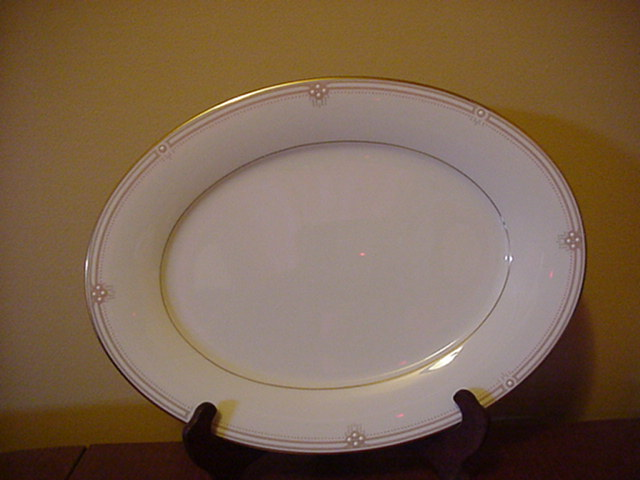 Make sure your browser can show photos and reload this page to see Noritake China Satin Gown 7730 Platter, medium  - 13 5/8