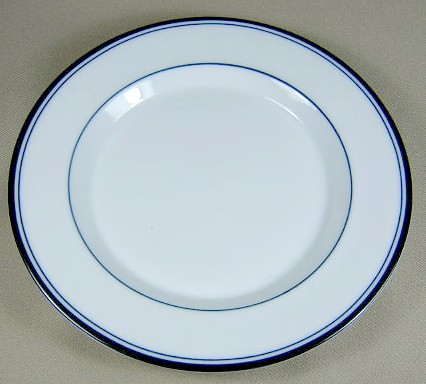 Make sure your browser can show photos and reload this page to see Dansk China Allegro - Blue Bread and butter plate 7 1/2
