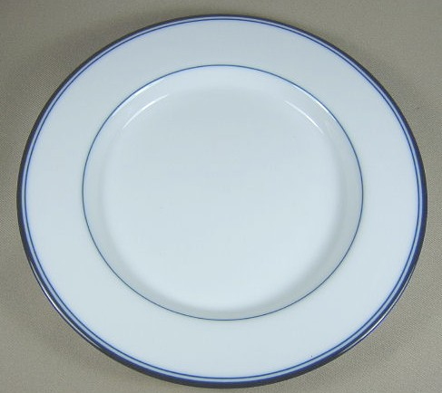 Make sure your browser can show photos and reload this page to see Dansk China Allegro - Blue Salad plate 9