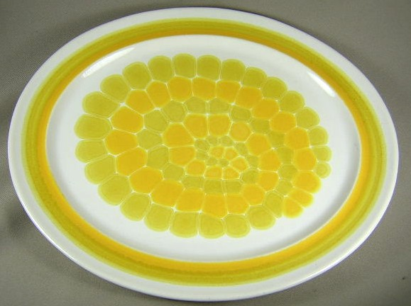 Make sure your browser can show photos and reload this page to see Franciscan China Sundance Platter, medium 13 1/2