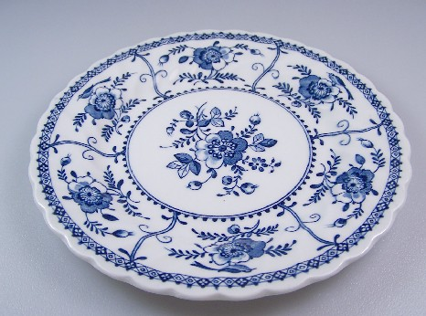 Make sure your browser can show photos and reload this page to see Johnson Brothers Dinnerware  Indies Bread and butter plate blue 6 1/4