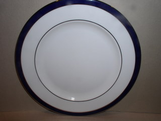 Make sure your browser can show photos and reload this page to see Lenox China Federal Cobalt Bread and butter plate --6 3/8