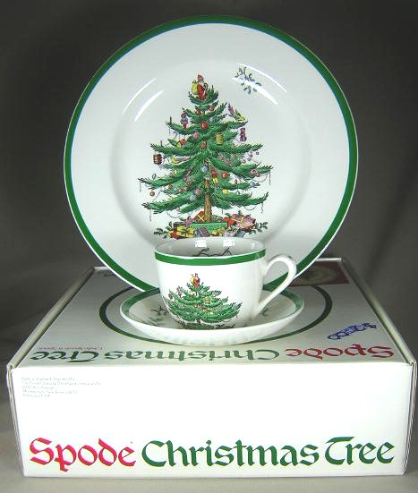 Make sure your browser can show photos and reload this page to see Spode China Christmas Tree S3324 Place setting 3-piece  dinner, cup & saucer