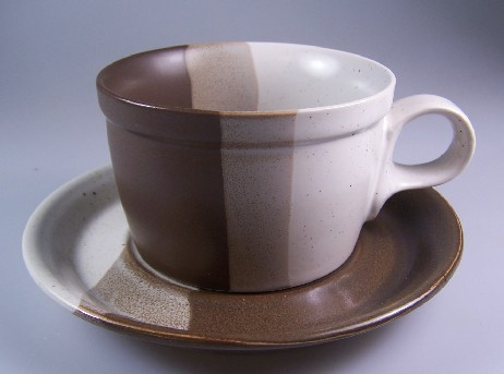 Make sure your browser can show photos and reload this page to see Mikasa China Studio Kiln PF008 Cup and saucer set 2 3/8