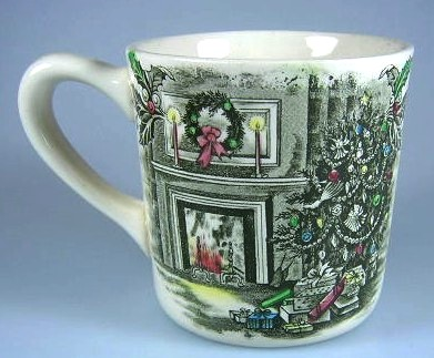 Make sure your browser can show photos and reload this page to see Johnson Brothers Dinnerware  Merry Christmas Mug  3 1/4