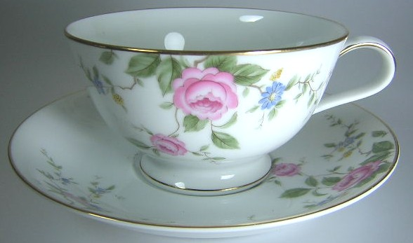 Make sure your browser can show photos and reload this page to see Noritake China Firenze 6674 Cup and saucer set 2 1/4