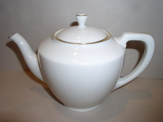 Make sure your browser can show photos and reload this page to see Lenox China Citation Gold Teapot and lid --Gold Trim-NO Pattern