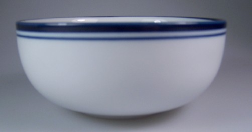 Make sure your browser can show photos and reload this page to see Dansk China Christianshavn - Blue Fruit/dessert bowl Portugal 5