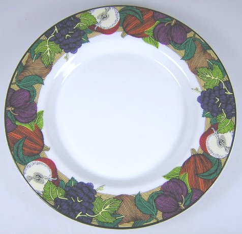 Make sure your browser can show photos and reload this page to see Dansk China Cornucopia Bread and butter plate 7 1/4