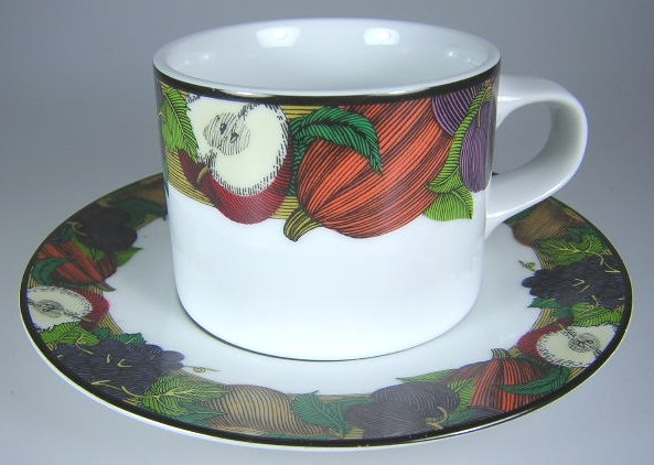 Make sure your browser can show photos and reload this page to see Dansk China Cornucopia Cup and saucer set