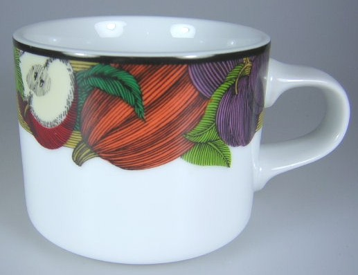 Make sure your browser can show photos and reload this page to see Dansk China Cornucopia Cup only (no saucer)