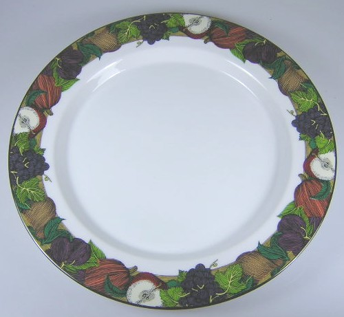 Make sure your browser can show photos and reload this page to see Dansk China Cornucopia Salad plate (design on rim) 9