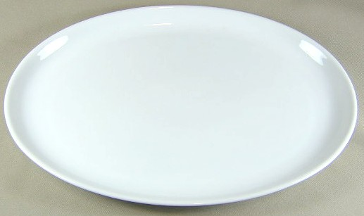 Make sure your browser can show photos and reload this page to see Arzberg China Arzberg White (Shape 1382)  Platter, small  12 5/8