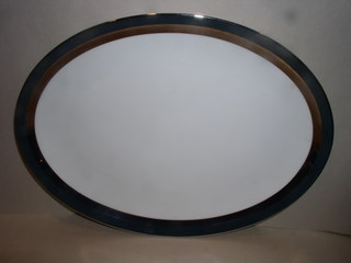 Make sure your browser can show photos and reload this page to see Gorham China Black Contessa Platter, medium --14