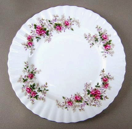 Make sure your browser can show photos and reload this page to see Royal Albert China Lavender Rose Bread and butter plate  preowned, gently used
