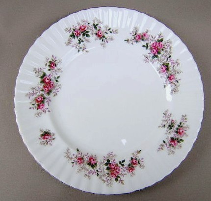 Make sure your browser can show photos and reload this page to see Royal Albert China Lavender Rose Salad plate  8 1/8