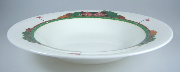 Make sure your browser can show photos and reload this page to see Christopher Stuart China Fairway HK204 Soup bowl, rim shape 9 1/2