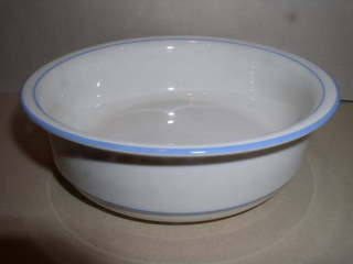 Make sure your browser can show photos and reload this page to see Lenox China For The Sky Blue Cereal bowl --6 1/4