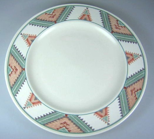 Make sure your browser can show photos and reload this page to see Mikasa China Santa Fe CAC24 Salad plate 8 3/8