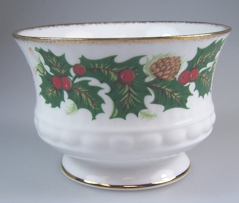 Make sure your browser can show photos and reload this page to see Rosina - Queens China Yuletide (Scalloped)  Sugar, (open) 2 1/4